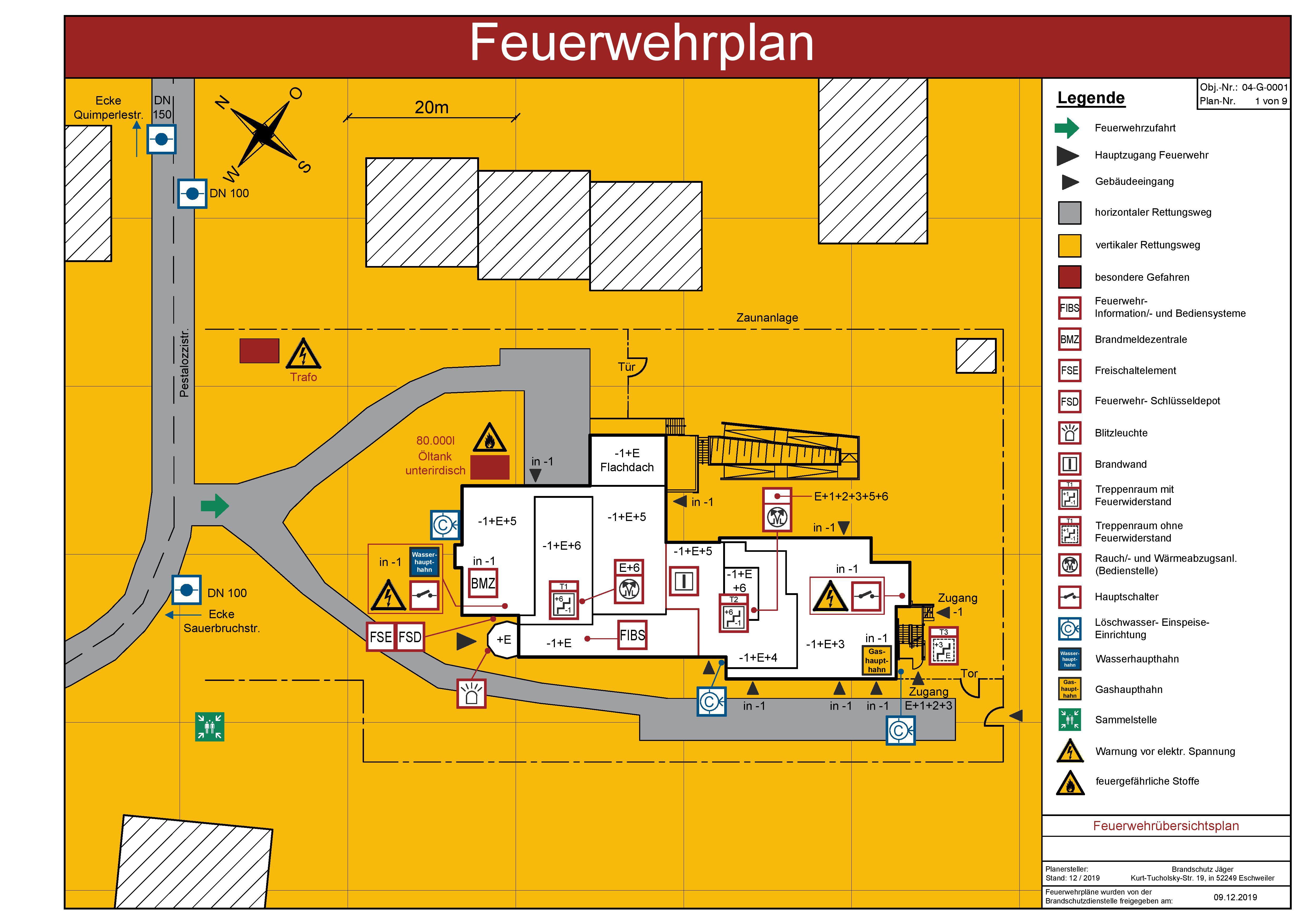 Feuerwehrplan Sicherheitstechnik Glossar Baunetz Wissen 7